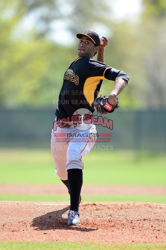 Pittsburgh Pirates pitcher Adrian Grullon (54) during a minor league spring training game against the Philadelphia Phillies on March 18, 2014 at the Carpenter Complex in Clearwater, Florida.  (Mike Janes/Four Seam Images)