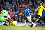 18.07.2019: Rangers v St Joseph's: Jermain Defoe scores for Rangers