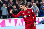 17.03.2019, Allianz Arena, Muenchen, GER, 1.FBL,  FC Bayern Muenchen vs. Mainz 05, DFL regulations prohibit any use of photographs as image sequences and/or quasi-video, im Bild Jubel nach dem Tor zum  5-0 durch James Rodriguez (FCB #11)  zeigt drei finger <br /> <br />  Foto © nordphoto / Straubmeier