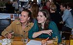 VOGELENZANG - Marloes Keetels met Lieke Hulsen. Spelerslunch KNHB 2019.   COPYRIGHT KOEN SUYK