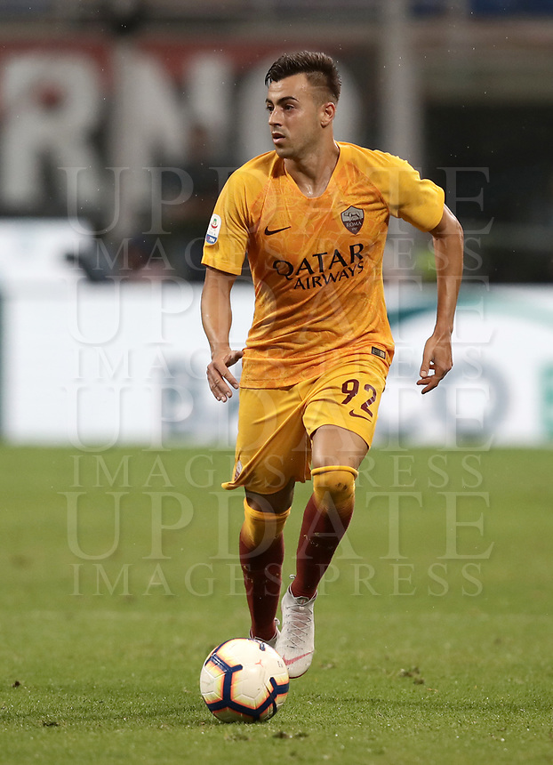 Calcio, Serie A: AC Milan - AS Roma, Milano stadio Giuseppe Meazza (San Siro) 31 agosto 2018. <br /> during the Italian Serie A football match between Milan and Roma at Giuseppe Meazza stadium, August 31, 2018. <br /> UPDATE IMAGES PRESS/Isabella Bonotto