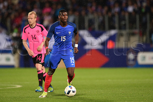 04.06.2016. Stade Saint Symphorien, Metz, France. International football freindly,France versus Scotland.  Paul Pogba (France)