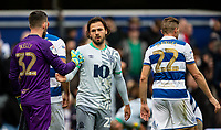 Blackburn Rovers' Bradley Dack shakes hands with  Queens Park Rangers' Liam Kelly (left) at the end of the match<br /> <br /> Photographer Andrew Kearns/CameraSport<br /> <br /> The EFL Sky Bet Championship - Queens Park Rangers v Blackburn Rovers - Saturday 5th October 2019 - Loftus Road - London<br /> <br /> World Copyright © 2019 CameraSport. All rights reserved. 43 Linden Ave. Countesthorpe. Leicester. England. LE8 5PG - Tel: +44 (0) 116 277 4147 - admin@camerasport.com - www.camerasport.com