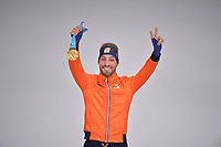 OLYMPIC GAMES: PYEONGCHANG: 23-02-2018, Gangneung Oval, Long Track, 1000m Men, Olympic Champion Kjeld Nuis (NED), ©photo Martin de Jong