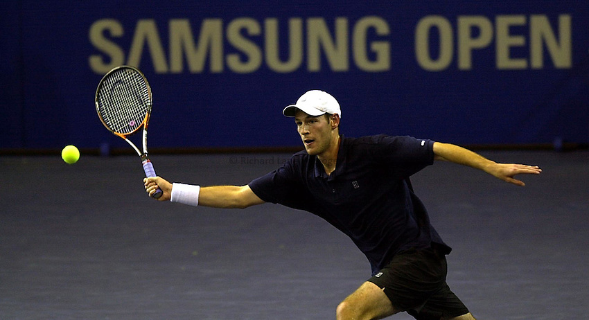 Photo Ken Brown.21.11.00 The Samsung Open.Oliver Freelove GB plays a volley in his defeat by Diego Nargiso of Italy