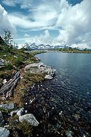 Alpine lake in the Bugaboo Mountains, British Columbia, Canada