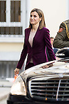 Queen Letizia of Spain attends to the work meeting of the Microfinance BBVA Foundation  in Madrid . March 30, 2016. (ALTERPHOTOS/Borja B.Hojas)