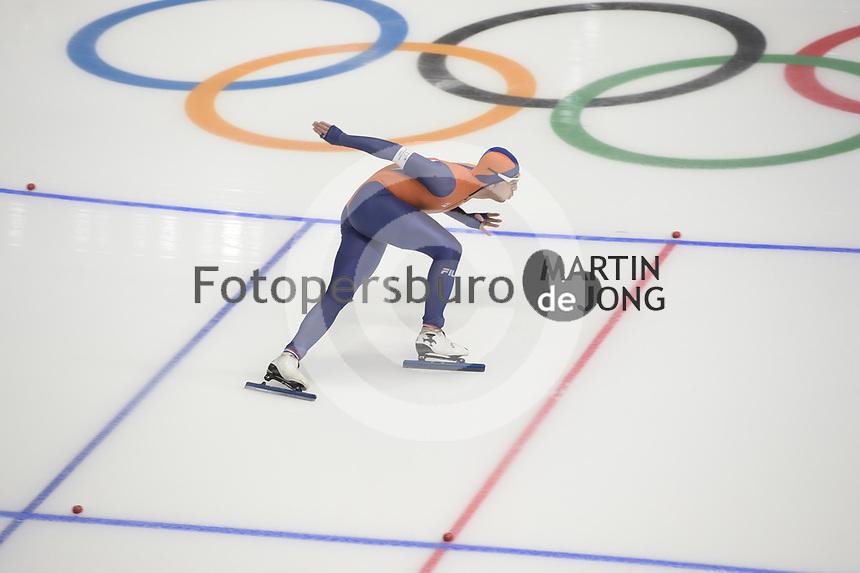 OLYMPIC GAMES: PYEONGCHANG: 23-02-2018, Gangneung Oval, Long Track, 1000m Men, Kai Verbij (NED), ©photo Martin de Jong