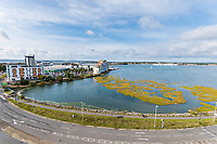 BNPS.co.uk (01202 558833)<br /> Pic: Graham Hunt/BNPS<br /> <br /> View from the balcony of Holes Bay.<br /> <br /> Are these Britain's most sought-after council flats ...<br /> <br /> A brand new block of council flats have been unveiled that come with stunning sea views homeowners pay a premium for.<br /> <br /> Nile Court is a development of one and two bedroom apartments overlooking Poole Harbour in Dorset, one of the most exclusive locations for property in the country.<br /> <br /> The flats have private balconies from which breathtaking sunset views over water can be enjoyed.<br /> <br /> Thirty out of the 46 flats in the nine storey building are only available to tenants registered for council accommodation, with monthly rents of around £270.