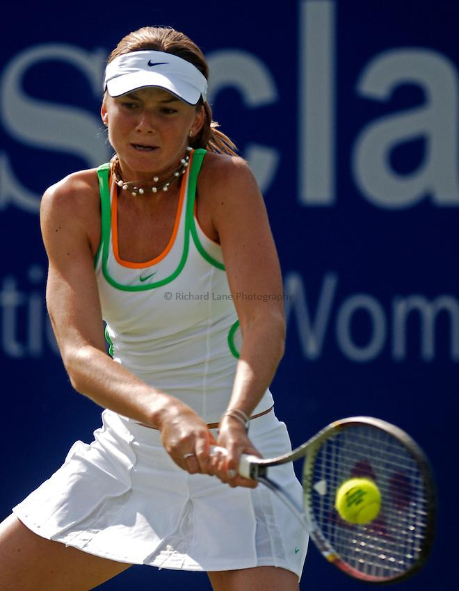 Photo: Glyn Thomas..DFS Classic Tennis, Edgbaston Priory Club, Birmingham. 07/06/2005...Daniela Hantuchova competes in the doubles.