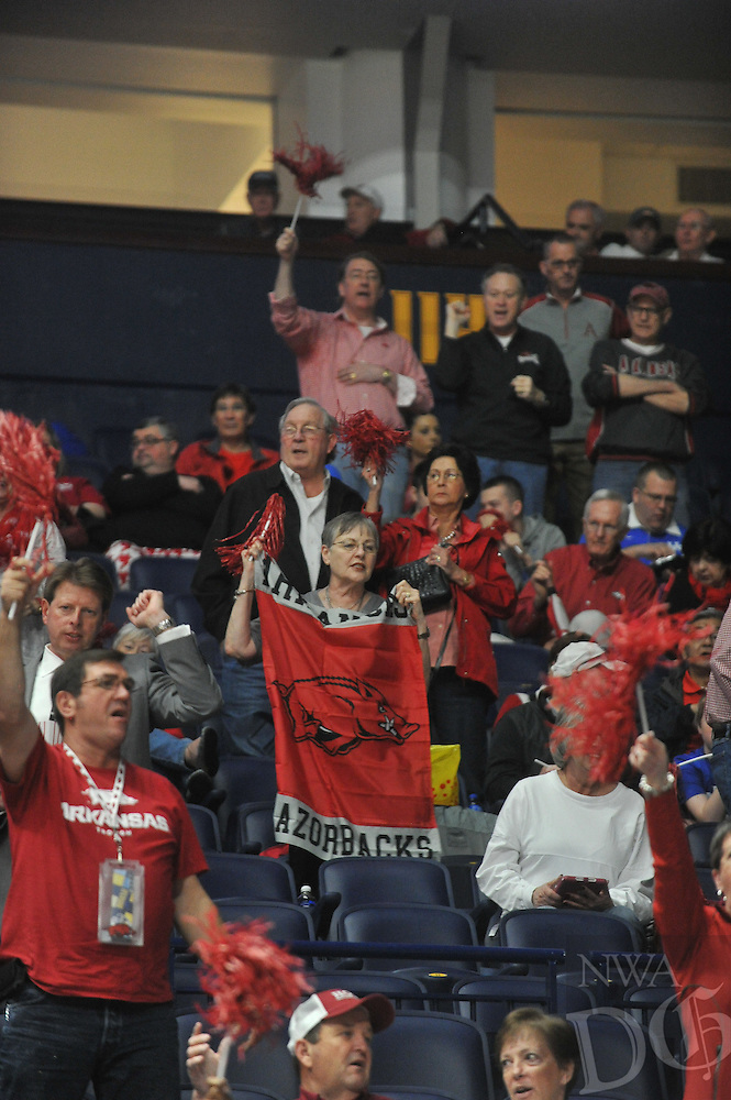 NWA Democrat-Gazette/MICHAEL WOODS &bull; @NWAMICHAELW<br /> University of Arkansas Razorbacks during their 68-61 loss to Florida Thursday, March 10, 2016 at SEC Basketball tournament at Bridgestone Arena in Nashville.