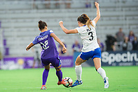 Orlando, FL - Saturday June 03, 2017: Kristen Edmonds, Brooke Elby during a regular season National Women's Soccer League (NWSL) match between the Orlando Pride and the Boston Breakers at Orlando City Stadium.