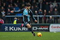 Joe Jacobson of Wycombe Wanderers during the Sky Bet League 2 match between Wycombe Wanderers and Luton Town at Adams Park, High Wycombe, England on 6 February 2016. Photo by Claudia Nako.