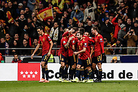 18th November 2019; Wanda Metropolitano Stadium, Madrid, Spain; European Championships 2020 Qualifier, Spain versus Romania;  Gerard Moreno (esp)  celebrates his goal which made it 2-0 - Editorial Use