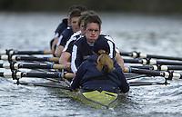 London, GREAT BRITAIN. Oxford Trail VIIIs.OXford President Matt Smith. (facing). Varsity: Boat Race  [Mandatory Credit: Peter Spurrier: Intersport Images]