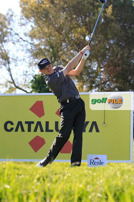 Paul Lawrie (SCO) on the 13th tee during Thursday's Round 1 of The Open De Espana at The PGA Catalunya Resort. 15th May 2014.<br /> Picture:  Thos Caffrey / www.golffile.ie
