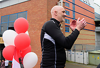 Lincoln City's first team goalkeeping coach Andy Warrington during the open top bus tour to celebrate the club winning the EFL Sky Bet League Two<br /> <br /> Photographer Andrew Vaughan/CameraSport<br /> <br /> The EFL Sky Bet League Two - Lincoln City - Champions Parade - Sunday 5th May 2019 - Lincoln<br /> <br /> World Copyright © 2019 CameraSport. All rights reserved. 43 Linden Ave. Countesthorpe. Leicester. England. LE8 5PG - Tel: +44 (0) 116 277 4147 - admin@camerasport.com - www.camerasport.com
