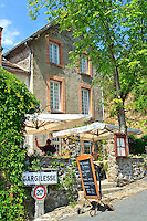 France, Indre(36), le Berry, vallée de la Creuse, Gargilesse-Dampierre, labellisé Les Plus Beaux Villages de France, hôtel-restaurant des Artistes // France, Indre, Berry region, Creuse Valley, Gargilesse Dampierre, labelled Les Plus Beaux Villages de France (The Most Beautiful Villages of France), hotel restaurant des Artistes