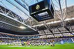Solna 2015-04-26 Fotboll Allsvenskan AIK - &Ouml;rebro SK :  <br /> Vy &ouml;ver Friends Arena under lineup med publik och tomma l&auml;ktarsektioner inf&ouml;r matchen mellan AIK och &Ouml;rebro SK <br /> (Foto: Kenta J&ouml;nsson) Nyckelord:  AIK Gnaget Friends Arena Allsvenskan &Ouml;rebro &Ouml;SK inomhus interi&ouml;r interior supporter fans publik supporters