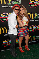New York, NY -  June 5 : Periko Leon and Jessi Leon attend the 2014 FIFA World Cup McDonald's Launch Party at Pillars 38 on June 5, 2014 in New York City. Photo by Brent N. Clarke / Starlitepics