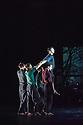 London, UK. 14.01.2014. BalletBoyz the Talent in their dress rehearsal of YOUNG MEN, which has its premiere, and opens the season, at Sadler's Wells. Dancers are: Andrea Carruciu, Dalma Doman, Flavien Esmieu, Marc Galvez, Adam Kirkham, Edward Pearce, Leon Poulton, Matthew Rees, Matthew Sandiford, Bradley Waller, Jennifer White.  Photograph © Jane Hobson.