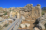 Ggantija neolithic megalithic 5500 years old prehistoric temple complex site Gozo, Malta