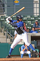 Calvin Culver #14 of the Myrtle Beach Pelicans at bat during a game against the Frederick Keys on May 2, 2010 in Myrtle Beach, SC.