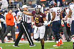 Minnesota Golden Gophers linebacker Damien Wilson (5) in action during the Texas Bowl game between the Syracuse Orange and the Minnesota Golden Gophers at the Reliant Stadium in Houston, Texas. Syracuse leads Minnesota 7 to 3 at halftime.