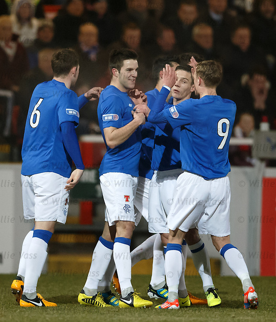 Andy Little takes the acclaim after scoring the opening goal for Rangers