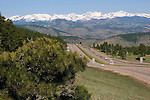 Interstate 70 overlook at Genesee, west of Denver, Colorado, USA John offers private photo tours of Denver, Boulder and Rocky Mountain National Park.