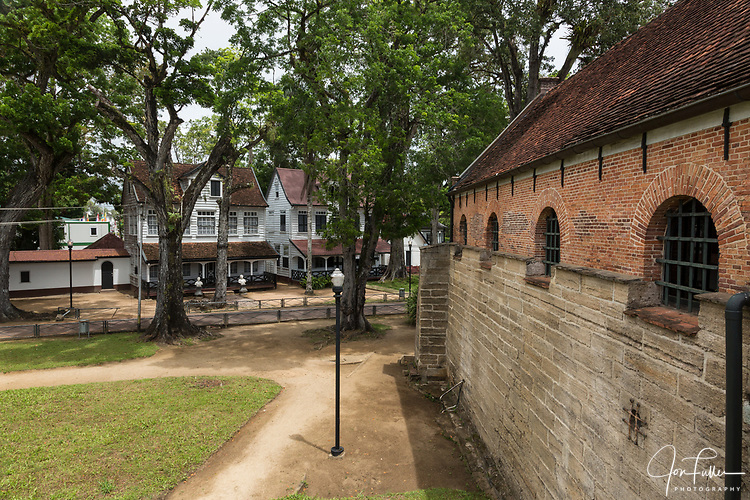 Fort Zeelandia was built by the Dutch on the Paramaribo River, Paramaribo, Suriname to protect the city from English and French invaders.  Listed as a UNESCO World Heritage Site.