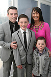 James Conlon and family at Scoil an Spioraid Naoimh NS Confirmation in Laytown Church...Photo NEWSFILE/Jenny Matthews.(Photo credit should read Jenny Matthews/NEWSFILE)....This Picture has been sent you under the condtions enclosed by:.Newsfile Ltd..The Studio,.Millmount Abbey,.Drogheda,.Co Meath..Ireland..Tel: +353(0)41-9871240.Fax: +353(0)41-9871260.GSM: +353(0)86-2500958.email: pictures@newsfile.ie.www.newsfile.ie.FTP: 193.120.102.198.