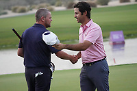 David Drysdale (SCO) & Jorge Campillo (ESP) in action during the final round of the Commercial Bank Qatar Masters 2020, Education City Golf Club , Doha, Qatar. 08/03/2020<br /> Picture: Golffile | Phil Inglis<br /> <br /> <br /> All photo usage must carry mandatory copyright credit (© Golffile | Phil Inglis)
