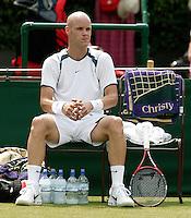 29-6-06,England, London, Wimbledon, second round match,  Melle van Gemerden