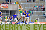 Anthony Maher, Kerry in action against Ian Fahey, Tipperary in the first round of the Munster Football Championship at Fitzgerald Stadium on Sunday.