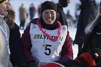 Saturday February 25, 2012   at Knik Lake during the Junior Iditarod start.   Chelsea Davis.