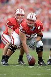MADISON, WI - SEPTEMBER 9: Center Marcus Coleman #65 of the Wisconsin Badgers prepares to snap the ball to quarterback John Stocco #7 against the Western Illinois Leathernecks at Camp Randall Stadium on September 9, 2006 in Madison, Wisconsin. The Badgers beat the Leathernecks 34-10. (Photo by David Stluka)