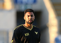 Kane Hemmings of Oxford United during the The Checkatrade Trophy match between Oxford United and Exeter City at the Kassam Stadium, Oxford, England on 30 August 2016. Photo by Andy Rowland / PRiME Media Images.