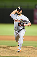 Glendale Desert Dogs pitcher Chad Smith (55) during an Arizona Fall League game against the Peoria Javelinas on October 14, 2014 at Surprise Stadium in Surprise, Arizona.  Glendale defeated Peoria 9-0.  (Mike Janes/Four Seam Images)