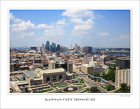 The view of the Kansas City skyline from the tower at the National World War One Museum in Kansas City, Missouri on June 17, 2007.