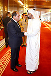 Egyptian President Abdel Fattah al-Sisi and Sheikh Mohammed bin Zayed al-Nahyan Crown Prince of Abu Dhabi drink coffee before he leaves Abu Dhabi, on September 26, 2017. Photo by Egyptian President Office