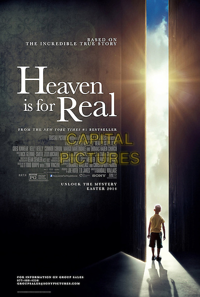ONE SHEET POSTER ART<br /> in Heaven Is for Real (2014) <br /> *Filmstill - Editorial Use Only*<br /> CAP/FB<br /> Image supplied by Capital Pictures