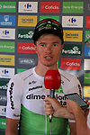 Benjamin King (USA) Team Dimension Data from the breakaway group wins Stage 4 of the La Vuelta 2018, running 162km from Velez-Malaga to Alfacar, Sierra de la Alfaguara, Andalucia, Spain. 28th August 2018.<br /> Picture: Colin Flockton   Cyclefile<br /> <br /> <br /> All photos usage must carry mandatory copyright credit (&copy; Cyclefile   Colin Flockton)