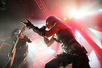 LONDON, ENGLAND - FEBRUARY 11: Michael Amott and Alissa White-Gluz of 'Arch Enemy' performing at KOKO on February 11, 2018 in London, England.<br /> CAP/MAR<br /> &copy;MAR/Capital Pictures