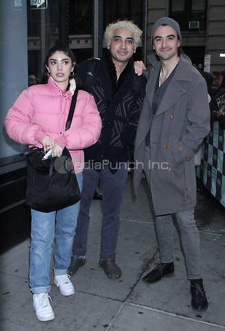 December 14, 2018.  Nikohl Boosher, Sam Abbas,, Harry Aspinwall at Build Series to talk about new movie The Wedding in New York. December 14, 2018  Credit:RW/MediaPunch