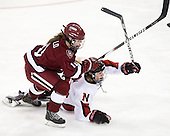 Gina McDonald (Harvard - 10), Dani Rylan (NU - 2) - The Harvard University Crimson defeated the Northeastern University Huskies 4-3 (SO) in the opening round of the Beanpot on Tuesday, February 8, 2011, at Conte Forum in Chestnut Hill, Massachusetts.