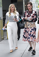 NEW YORK, NY - JUNE 9: Hilary Duff and Miriam Shor on the set of Younger at Times Square in New York City on June 19, 2017. Credit: RW/MediaPunch