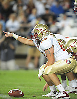 Sept. 19, 2009; Provo, UT, USA; Florida State Seminoles center (63) A.J. Ganguzza against the BYU Cougars at LaVell Edwards Stadium. Florida State defeated BYU 54-28. Mandatory Credit: Mark J. Rebilas-