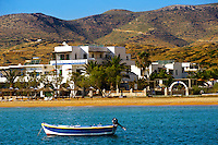 The Corali Hotel on the harbour of Ormos, Ios, Cyclades Islands, Greece