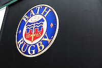 A general view of the Bath Rugby emblem in the tunnel. Aviva Premiership match, between Bath Rugby and Worcester Warriors on September 17, 2016 at the Recreation Ground in Bath, England. Photo by: Patrick Khachfe / Onside Images